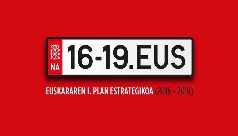 I Plan estratégico del euskera (2016-2019)